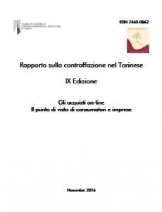 CCIAA Torino - Rapporto Contraffazione 2016
