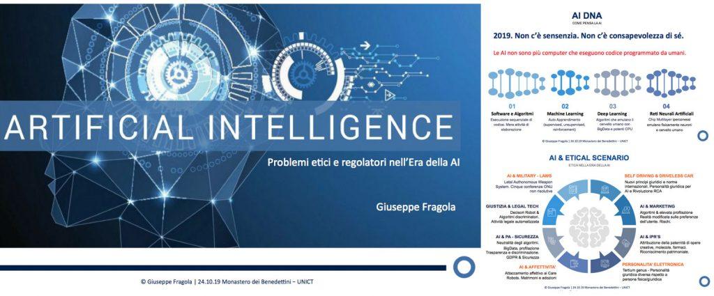 Artificial Intelligence - Aspetti etici e regolatori | Giuseppe Fragola